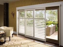 palm beach polysatin shutters on a sliding glass door for sale at the blind blind shades sliding glass
