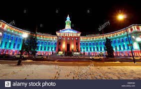 Downtown Denver Lights Downtown Denver At Christmas Denvers City And County