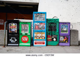 Newspaper Vending Machines Stunning Newspaper Vending Boxes On Street New York City USA Stock Photo
