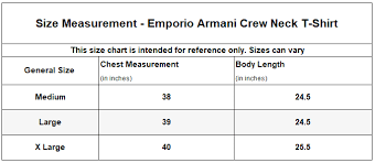 Emporio Armani Size Chart Armani Jeans Size Chart The Best Style Jeans