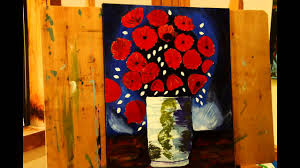 painting van gogh s vase with red poppies