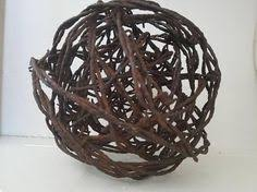barbed wire decorations rusty barbed wire ball home decor