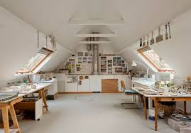 office studio design. Bright And Spacious Attic Converted To An Art Studio Office Design I