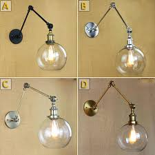 awesome retro two swing arm wall lamp glass shade mount regarding attractive adjule sconce wonderful wa