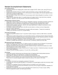 Best Solutions of Sample Resume Accomplishment Statements On Resume