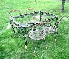 vintage wrought iron patio furniture outdoor