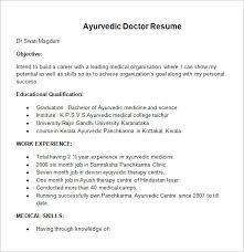 doctor resume templates –    free samples  examples  format    ayurvedic doctor resume template