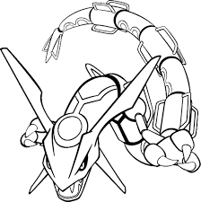 Legendary Pokemon Coloring Pages Mega Rayquaza Beautiful Line Art