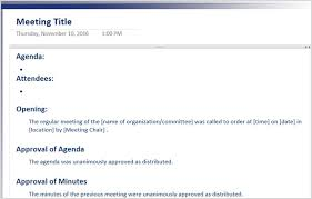 Meeting Agenda Sample Doc Magnificent The 48 Best Meeting Minutes Templates For Professionals