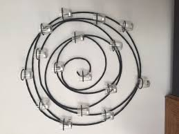 spiral candle votive wall decor