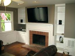 how to install tv over fireplace mounting fireplace put cable box install over wiring putting above