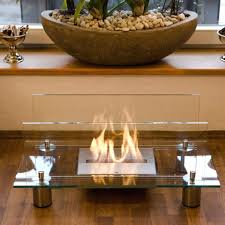 crystal bio ethanol indoor fireplace outdoor tabletop coffee table