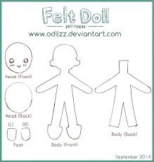 Doll Patterns Simple Felt Doll Pattern New By Odilzz On DeviantArt