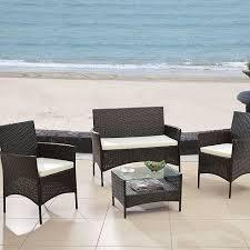 image modern wicker patio furniture. Modern-outdoor-wicker-garden-patio-furniture-set Best Outdoor Wicker Image Modern Patio Furniture