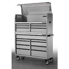 tool chest for sale. craftsman 15-drawer heavy duty soft-close drawers tool storage combo in stainless steel chest for sale