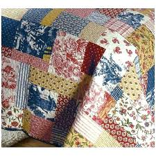 french country quilted placemats tan red navy quilt french country garden fl toile quilt set french french style