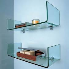 glass component shelf wall mount