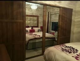 4 x shaker b and q sliding wardrobe doors mirror in middrough