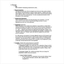 biology lab report examples   Letter Template Word