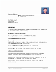Resume Format Job Application Resume format Pdf Unique Sample Resume format for 10