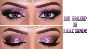 kashees glittery lilac eye makeover