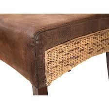 Rattan Leder Stühle