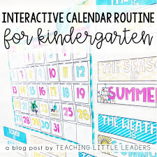 daily time calendar interactive calendar time routine for kindergarten