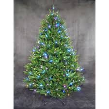 Christmas Tree With Changing Lights 7 5 Ft Pre Lit Led California Cedar Artificial Tree Rgb
