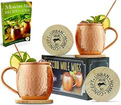 moscow mule gift set mule mugs made of 100 pure copper moscow mule