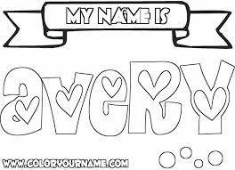 Small Picture Coloring Pages Your Name Coloring Home