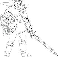 Fabulous Legend Of Zelda Coloring Pages B5928 Luxurious Legend Of