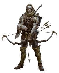 Ranger D D Male Half Orc Fighter Ranger Archer Pathfinder Pfrpg Dnd