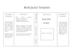 book jacket report template