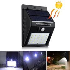 zapals waterproof 20 led solar powered lamp pir motion sensor outdoor garden wall light zapals com