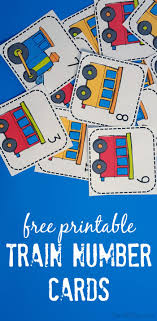 Printable Train Number Matching Card Game Early Math Matching
