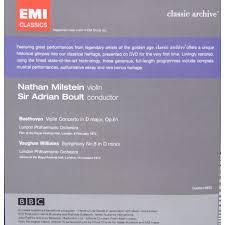 beethoven violin concerto dvd plade klassikeren dk beethoven violin concerto nathan milstein vw symphony no 8