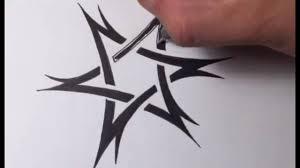 Drawing A Tribal Star Of David Tattoo Design Quick Sketch