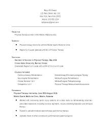 Occupational Therapy Resume Template Best Physical Therapy Resume Samples Physical Therapy Resume Template