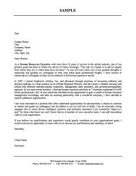 Human Resource Cover Letter Examples Human Resources Executive Cover
