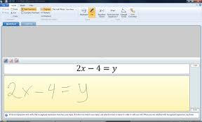 i can choose to enter math by hand great for tablets or smartboards and in the picture below my function is interpreted as mathematics instantly