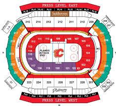 Calgary Flames Seating Map Scotiabank Saddledome Flames