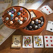 Wooden Solitaire Game With Marbles Stones of the World Solitaire Game National Geographic Store 62