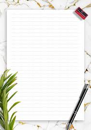 lined paper template printables