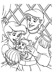 Small Picture The Little Mermaid 2 Coloring Pages Baby Ariel And Melody Melody