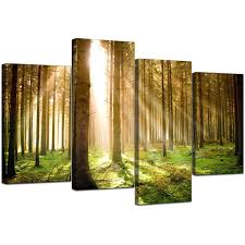 Wall Art Sets For Living Room Canvas Art Of Trees For Your Bedroom 4 Part