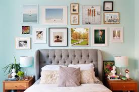try putting a gallery wall together of your favorite objects besides hooks be sure to use double sided tape to ensure the artworks don t fall off the wall