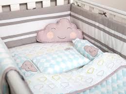 image of happy cloud bedding set