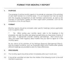 Monthly Performance Report Format Quarterly Review Template Business Format Guapamia Co