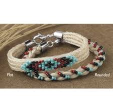 braided and beaded horsehair bracelet flat horse themed gifts clothing jewelry and accessories