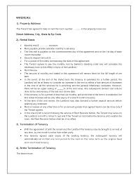 Sample Tenancy Agreements Tenancy Agreement Template 2